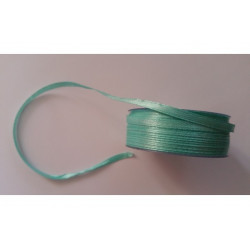 Nastro Doppio Raso Verde Tiffany 3mmx50mt