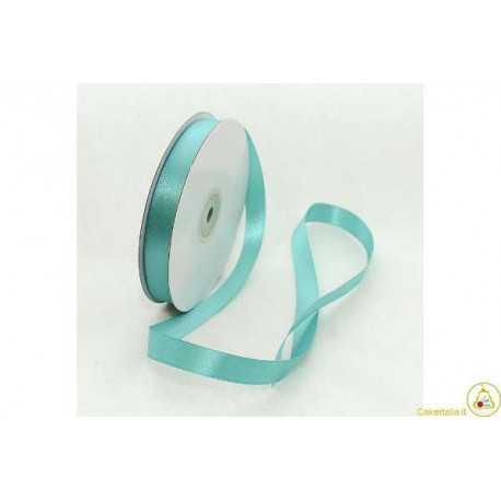 Nastro Doppio Raso Verde Tiffany 6mmx45mt