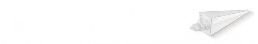 Vendita Coni in PVC Trasparente |CakeItalia Coni Porta Confetti e Riso