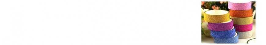 Vendita Nastri Glitterati Colorati |CakeItalia Nastri e Cordini