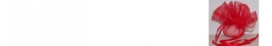 Sacchetti Organza Orlo Argento Oro |CakeItalia Sacchetti PortaConfetti