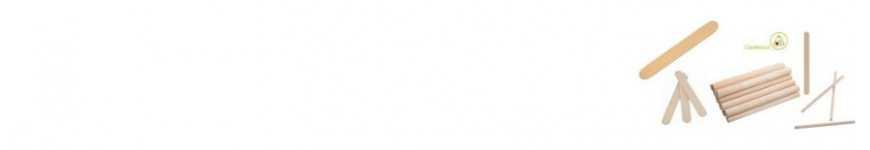 Bastoncini di Legno per Bricolage e Fai da Te|CakeItalia Addobbi Feste